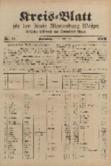 Kreis-Blatt für den Kreis Marienburg Westpreussen, 6. September, Nr 71.