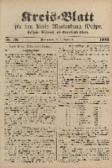 Kreis-Blatt für den Kreis Marienburg Westpreussen, 9. September, Nr 72.