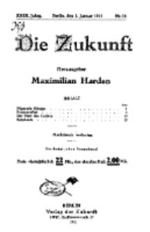 Die Zukunft, 1. Januar, Jahrg. XXIX, Bd. 112, Nr 14.