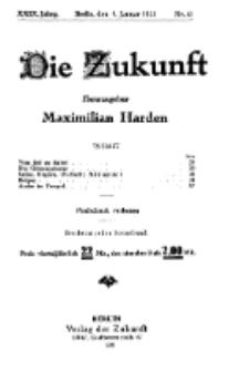 Die Zukunft, 8. Januar, Jahrg. XXIX, Bd. 112, Nr 15.