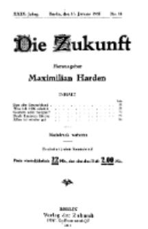 Die Zukunft, 15. Januar, Jahrg. XXIX, Bd. 112, Nr 16.