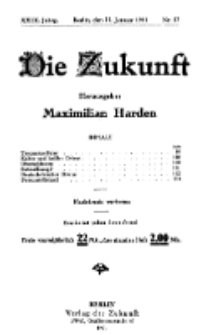 Die Zukunft, 22. Januar, Jahrg. XXIX, Bd. 112, Nr 17.