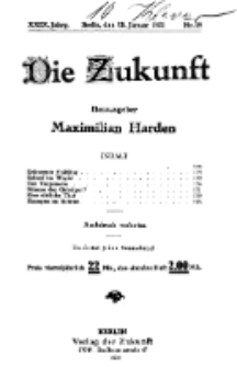 Die Zukunft, 29. Januar, Jahrg. XXIX, Bd. 112, Nr 18.
