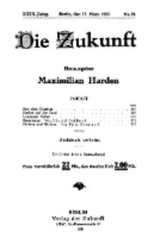 Die Zukunft, 12. März, Jahrg. XXIX, Bd. 112, Nr 24.