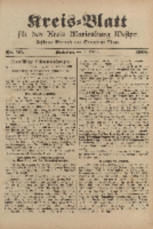 Kreis-Blatt für den Kreis Marienburg Westpreussen, 18. Oktober, Nr 83.