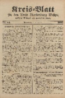 Kreis-Blatt für den Kreis Marienburg Westpreussen, 21. Oktober, Nr 84.