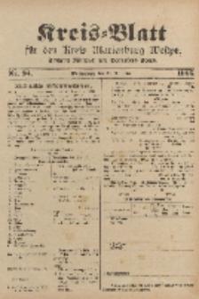 Kreis-Blatt für den Kreis Marienburg Westpreussen, 25. November, Nr 94.