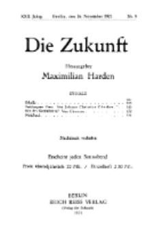 Die Zukunft, 26. November, Jahrg. XXX, Bd. 115, Nr 9.