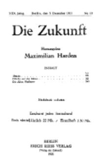 Die Zukunft, 3. Dezember, Jahrg. XXX, Bd. 115, Nr 10.