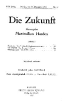 Die Zukunft, 17. Dezember, Jahrg. XXX, Bd. 115, Nr 12.