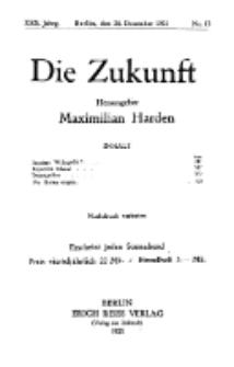 Die Zukunft, 24. Dezember, Jahrg. XXX, Bd. 115, Nr 13.
