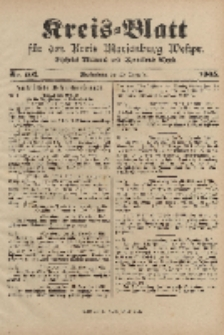 Kreis-Blatt für den Kreis Marienburg Westpreussen, 23. Dezember, Nr 101.