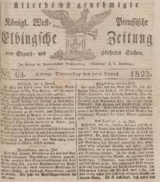 Elbingsche Zeitung, No. 63 Donnerstag, 7 August 1823