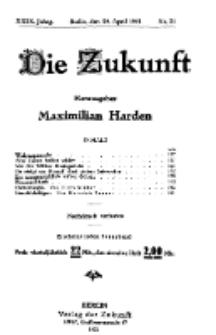 Die Zukunft, 30. April, Jahrg. XXIX, Bd. 113, Nr 31.
