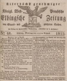 Elbingsche Zeitung, No. 64 Montag, 11 August 1823