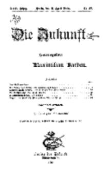 Die Zukunft, 3. April, Jahrg. XVII, Bd. 67, Nr 27.