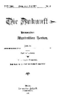 Die Zukunft, 1. Mai, Jahrg. XVII, Bd. 67, Nr 31.
