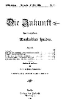 Die Zukunft, 15. Mai, Jahrg. XVII, Bd. 67, Nr 33.