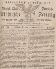 Elbingsche Zeitung, No. 66 Montag, 18 August 1823