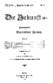 Die Zukunft, 12. Juni, Jahrg. XVII, Bd. 67, Nr 37.