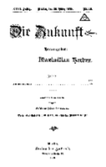 Die Zukunft, 30. März, Jahrg. XXVI, Bd. 100, Nr 18.