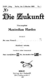 Die Zukunft, 2. Oktober, Jahrg. XXIX, Bd. 111, Nr 1.