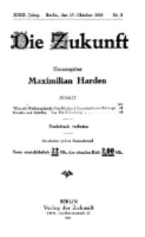Die Zukunft, 16. Oktober, Jahrg. XXIX, Bd. 111, Nr 3.