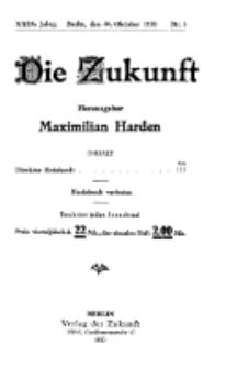 Die Zukunft, 30. Oktober, Jahrg. XXIX, Bd. 111, Nr 5.