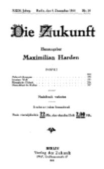 Die Zukunft, 04. Dezember, Jahrg. XXIX, Bd. 111, Nr 10.