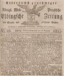 Elbingsche Zeitung, No. 69 Donnerstag, 28 August 1823