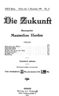 Die Zukunft, 18. Dezember, Jahrg. XXIX, Bd. 111, Nr 12.