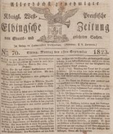 Elbingsche Zeitung, No. 70 Montag, 1 September 1823