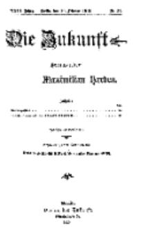Die Zukunft, 20. Februar, Jahrg. XXIII, Bd. 90, Nr 21.