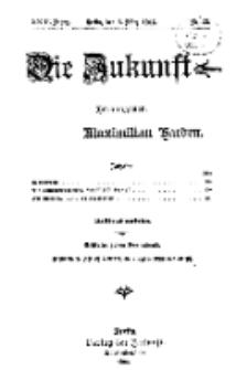 Die Zukunft, 6. März, Jahrg. XXIII, Bd. 90, Nr 23.