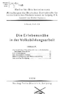 Hefte für Büchereiwesen. Der Volksbibliothekar und die Bücherhalle, 5. Band, H. 4/6.