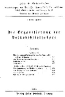 Hefte für Büchereiwesen. Der Volksbibliothekar und die Bücherhalle, 6. Band, H. 4.