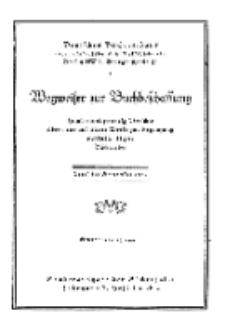 Hefte für Büchereiwesen. Der Volksbibliothekar und die Bücherhalle, Abteilung B, 7. Band, H. 1.