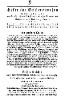 Hefte für Büchereiwesen. Der Volksbibliothekar und die Bücherhalle, Abteilung B, 8. Band, H. 2.