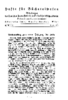Hefte für Büchereiwesen. Der Volksbibliothekar und die Bücherhalle, 10. Band, H. 1/2.