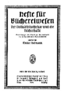 Hefte für Büchereiwesen. Der Volksbibliothekar und die Bücherhalle, 10. Band, H. 3.