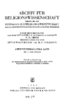 Archiv für Religionswissenschaft, 1935, Bd. 32, H. 1-2.
