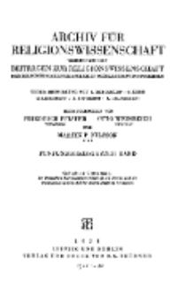 Archiv für Religionswissenschaft, 1938, Bd. 35, [H.1-2].