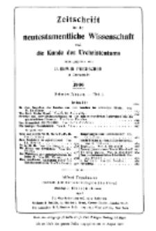 Zeitschrift für die neutestamentliche Wissenschaft und die Kunde des Urchrichstemtums, Jg. 7. 1906, H. 3.