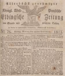 Elbingsche Zeitung, No. 76 Montag, 22 September 1823