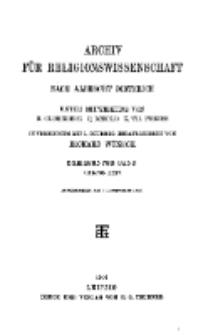 Archiv für Religionswissenschaft, 25. November 1910, Bd. 13, H. 4.