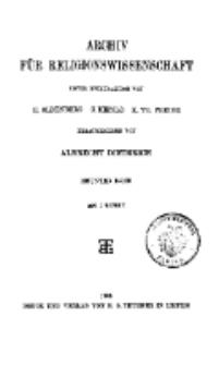 Archiv für Religionswissenschaft, 1. März 1906, Bd. 9, H. 1.