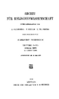 Archiv für Religionswissenschaft, 31. Mai 1906, Bd. 9, H. 2.