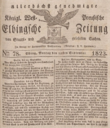 Elbingsche Zeitung, No. 78 Montag, 29 September 1823