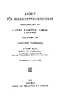 Archiv für Religionswissenschaft, 9. Januar 1906, Bd. 8, H. 3-4.