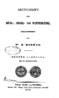 Zeitschrift für Münz-, Siegel- und Wappenkunde, 1841